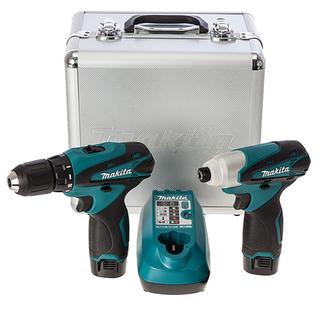 Makita Kit 10,8V DF330D + TD090D (2 x 1,3Ah Batteries)